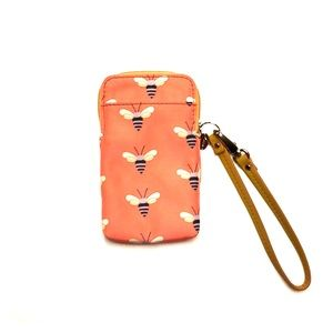 Fossil bee patterned phone wristlet